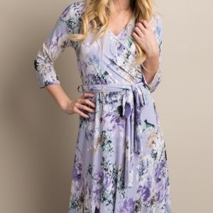 Pinkblush Lavender Wrap Maxi Dress